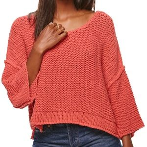 Free People Halo Dolman Sleeve Pullover Coral